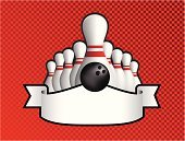 Bowling,Ten Pin Bowling,Scroll,Scroll Shape,Black Color,Red,Checked,Design,White,Ilustration,Ball,Vector,Sports Backgrounds,Vector Backgrounds,Individual Sports,Sports And Fitness,Illustrations And Vector Art,Design Element