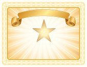Certificate,Award,Frame,Success,Banner,Achievement,Gold Colored,Ribbon,All Star,Award Plaque,Elegance,Vector,Sign,First Place,Decoration,Design,Label,Education,Information Medium,Copy Space,Ilustration,Business Symbol,recognized,acknowledgment,Sports Background,Backgrounds