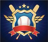Baseballs,Sign,Baseball - Sport,Wing,Insignia,Decoration,Coat Of Arms,Shield,Sport,Weapon,Vector,Frame,Trophy,template,Sports Bat,Copy Space,Ball,Symbol,Nobility,Ilustration,Vertical,Blue,Badge,Sports And Fitness,Chrome,Award,Gold Colored,Star Shape,Team Sports,Red,Placard,Ribbon,Illustrations And Vector Art,Sports Symbols/Metaphors,Shape,Metallic