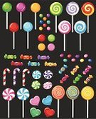 Candy,Lollipop,Birthday,Backgrounds,Party - Social Event,Peppermint,Holiday,Heart Shape,Dessert,Food,Holiday Symbols,Vector Cartoons,Food Backgrounds,Illustrations And Vector Art,Food And Drink,Holidays And Celebrations