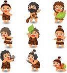 Caveman,Primitivism,Cartoon,Human Age,Men,Macho,Cave,Symbol,Stone Material,Evolution,Vector,Stone,Ancient,Beard,People,Hunting,Neanderthal,Set,Leopard,Prehistoric Era,Cheerful,Group Of People,Male,Strength,Doodle,Barbarian,Hairy,Characters,Leaf,Vector Cartoons,The Past,Jester,Isolated,Animals Hunting,Illustrations And Vector Art,One Person,Fun,Drawing - Activity,Ilustration,Vector Icons,Single Object,Collection,Humor,People,Style,Manga Style,Cute,Color Image