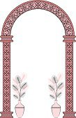 Arch,Gate,Architectural Column,Vector,Romance,Flower,Classic,Retro Revival,Floral Pattern,Antique,Ilustration,1940-1980 Retro-Styled Imagery,Scroll Shape,Illustrations And Vector Art,Architectural Detail,Decor,Decoration,Beautiful,Backgrounds,Pattern,Design,Beauty And Health,Architecture And Buildings,Modern,Old-fashioned,Vector Ornaments,Ornate,Computer Graphic,Elegance,Doily