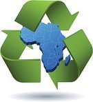 Africa,Green Color,Environmental Conservation,Recycling,Map,Recycling Symbol,Three-dimensional Shape,Vector,Ilustration
