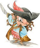 Pirate,Watercolor Painting,Ilustration,Sword,Painted Image,People,Actions,Hand Colored,Fighting,buccaneer