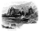 Rowboat,Ilustration,People,Gothic Style,Old,Black And White,Rural Scene,Church,Abbey,River,Crossing,Village,Tintern Abbey,Architectural Styles,Social History,Tourism,Norman Style,19th Century Style,Built Structure,Man Made Structure,Drawing - Art Product,Classical Style,cistercian,Riverbank,British Culture,Medieval,Religion,Monastery,Building Exterior,Outdoors,The Past,Old-fashioned,Cultures,UK,Demolished,Engraved Image,Ephemera,Circa 11th Century,River Wye - Derbyshire,Henry Viii Of England,Image Created 19th Century,Monmouth - Wales,Image Created 1870-1879,Old Ruin,Entrance,Overgrown,Ruined,History,Landscape,Welsh Culture,Water's Edge,Antique,Travel Destinations,Day,Spirituality,In Front Of,Wales,Monochrome