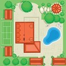 Plan,Swimming Pool,Gardening,Planning,Landscaped,Ornamental Garden,Flower Bed,Formal Garden,Vegetable Garden,Landscape,House,Architecture,Front or Back Yard,Drawing - Art Product,Blueprint,Design,Pencil Drawing,Plant,Court,Garage,Umbrella,Flower,Roof,Bench,Bush,Building Exterior,Front View,Architecture And Buildings,Grass,Real Estate,Residential Structure,Water,Homes,Pipe - Tube,Outdoors,Sketch,Built Structure,Landscapes,Deck Chair,Composition,Residential District,Parasol,Nature,Architectural Detail,Lawn,tennis court