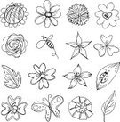 Flower,Butterfly - Insect,Doodle,Bee,Outline,Rose - Flower,Daisy,Line Art,Sketch,Vector,Black And White,Insect,Ornamental Garden,Plant,Sunflower,Dandelion,Clover,Gerbera Daisy,Leaf,Bouquet,Beetle,Carnation,Blossom,Growth,Sweet William Flower,White Background,Petal
