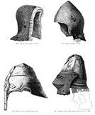 Work Helmet,Knight,Engraved Image,Suit of Armor,Chain Mail,Old,Medieval,Bascinet,Ilustration,Pompadour,The Past,History,Traditional Clothing,Styles,Condition,Ancient,Objects/Equipment,Illustrations And Vector Art,Isolated,Protective Workwear,Old-fashioned,Antique,Antiquities,Circa 12th Century,Middle Ages,Black And White,Isolated Objects,Isolated On White,Clothing,Helmet Visor
