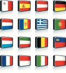 Flag,All European Flags,Andorra,Symbol,Greek Flag,Isolated,Hungarian Flag,Belgian Flag,Italian Flag,French Flag,German Flag,Liechtenstein,Isolated On White,Isolated Objects,Objects with Clipping Paths,Set,Monaco,Computer Icon,Austrian Flag,Orthographic Symbol,Interface Icons,Illustrations And Vector Art,Isolated-Background Objects,Vector,Portuguese Flag,Vector Icons,Spanish Flag,Luxembourg Flag,Polish Flag,Dutch Flag