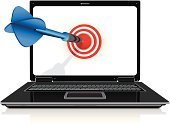 Target,Technology,Internet,Computer,Dart,Success,Bull's-Eye,Arrow Symbol,PC,Performance,Data,Winning,Digitally Generated Image,Laptop,Screen,Darts,Sport,Dartboard,Office Interior,Front View,Flat,Computer Monitor,consept,Black Color,Equipment,Blue,Blank,Isolated,Silver Colored,No People,Modern,Electrical Equipment,Global Communications,Technology,Business,Ilustration,Visual Screen,Copy Space,Isolated Objects,Silver - Metal,USB Cable,Computer Keyboard,CPU,Liquid-Crystal Display,White,Communication,Illustrations And Vector Art,Target Shooting,Computers,Vector,Aluminum,Keypad,Sparse