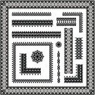 Lace - Textile,Frame,Black Color,Retro Revival,Seamless,Ribbon,Old-fashioned,White,Pattern,Corner,Decoration,Design Element,Vector,Ornate,Floral Pattern,Angle,filigree,Vignette,Ilustration,Illustrations And Vector Art,Collection,Set,Transparent,Holidays And Celebrations,Computer Graphic,Backgrounds,Elegance,Arts And Entertainment
