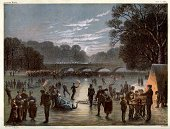 Ice-skating,Retro Revival,Victorian Style,London - England,Old-fashioned,Old,Winter,Lake,Hyde Park,19th Century Style,Park - Man Made Space,Ice,England,History,Season,Engraved Image,Europe,Night,Enjoyment,Antique,The Serpentine,Print,Outdoors,Sports And Fitness,Leisure Activity,Cold - Temperature,Winter Sport,Lifestyle,People,City Of Westminster,People,English Culture,Greater London,Group Of People,Frozen Water,Recreational Pursuit,Lithograph,Ilustration,British Culture,UK,Water,Styles,Color Image,The Past,Fun,European Culture,Cultures,Art
