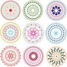 Mandala,Flower,Circle,Henna Tattoo,rangoli,Indian Culture,Geometric Shape,Pink Color,Hinduism,Vector,Yellow,Green Color,Design Element,Colors,Clip Art,Ilustration,Illustrations And Vector Art,Vector Backgrounds,Isolated On White,Red,Elegance,Composition,mehandi