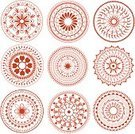 Mandala,Henna Tattoo,Circle,Flower,rangoli,Indian Culture,Geometric Shape,Vector,Ilustration,Design Element,Illustrations And Vector Art,Vector Backgrounds,Isolated On White,Composition,Elegance,Colors,Clip Art