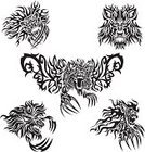 Tattoo,Lion - Feline,Big Cat,Animal,Carnivore,Design,Decoration,Mammal,Symbol,Flame,Illustrations And Vector Art,Mammals,Animals In The Wild,Set,undomesticated,beast of prey,Insignia,Clip Art,Animals And Pets,Wild Animals,Vector Ornaments,Design Element,Vector,Abstract,Collection,Ilustration,Ornate