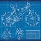 Bicycle,Cycling,Blueprint,Sport,Mountain Bike,Plan,Diagram,Wheel,Vector,Architecture,Tire,Cycle,Line Art,Planning,Mountain Biking,Racing Bicycle,Transportation,Mode of Transport,Single Object,Side View,Clipping Path,Isolated On White,Illustrations And Vector Art,Concepts And Ideas,Objects/Equipment