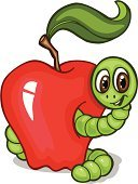 Alphabet,Worm,Apple - Fruit,Cartoon,Human Eye,Child,Green Color,Smiling,Ilustration,Color Image,Concepts,Vector,Illustrations And Vector Art,Red,Communication,Nature,Concepts And Ideas,Vector Cartoons,Stem,Leaf,Ideas,Colors