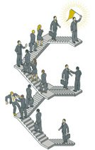 Isometric,Staircase,Occupation,Success,Progress,Moving Up,Business,Office Interior,Ladder of Success,On Top Of,ranking,Competition,Promotion,Leadership,Award,Direction,Improvement,Ilustration,Vector,Businessman,Manager,Businesswoman,Concepts And Ideas,Illustrations And Vector Art,Success