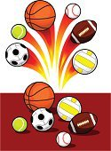 Sport,Ball,Sphere,Photograph,Volleyball,Speed,Football,Fire - Natural Phenomenon,Icon Set,Group of Objects,Equipment,Collection,Tennis,Basketball,Set,Flame,Flying,Symbol,Golf,Rugby,Soccer,Baseballs,Isolated,Heat - Temperature,Kicking,Vector,Activity,Burning,Sports And Fitness,Small,Orange Color,Power,Sports Symbols/Metaphors,Circle,Ilustration,Design Element,Brown,Yellow,USA,Ideas,Design,Objects/Equipment