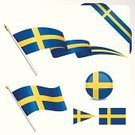 Flag,Sweden,Swedish Flag,Swedish Culture,Ribbon,Pennant,Banner,Blue,Yellow,Ilustration,Cross Shape,Decoration,Sphere,Computer Icon,Vector,National Flag,Symbol,Travel Locations,Illustrations And Vector Art,Set,Design Element,Isolated Objects