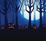 Halloween,Forest,Spooky,Backgrounds,Night,Tree,Woodland,Backdrop,Jack O' Lantern,Dusk,Facial Expression,Ilustration,Holiday,Vector,Anthropomorphic Face,Pumpkin,Illustrations And Vector Art,Vector Backgrounds,Holiday Backgrounds,Halloween,Holidays And Celebrations,Full Moon