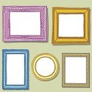 Picture Frame,Frame,Doodle,Retro Revival,Old-fashioned,Colors,Sketch,Ornate,Circle,Gold Colored,Vector,Antique,Purple,Multi Colored,Elegance,Symbol,Computer Graphic,Curve,Rectangle,Icon Set,Classic,Figurine,Blue,Yellow,Knick Knack,Curled Up,Simplicity,Outline,Ilustration,Line Art,Decoration