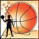 Basketball - Sport,Basketball,Child,Basketball Court,Basketball Hoop,Silhouette,Little Boys,Flooring,Star Shape,Sport,Halftone Pattern,Circle,Court,Blackboard,Sports And Fitness,Team Sports,Sports Backgrounds,Ball,Athlete,Vanishing Point,Holding,One Person,The Human Body