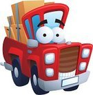 Car,Cartoon,Pick-up Truck,Cute,Land Vehicle,Transportation,Merchandise,Characters,Ute,Equipment,Smiling,Box - Container,Human Face,Red