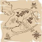 Map,Pirate,Cartography,Old,Treasure Chest,Sailing Ship,Obsolete,Retro Revival,Old-fashioned,Manuscript,X Marks The Spot,Scroll,Paper,People Traveling,Sword,Crossing,Journey,Compass,Antique,Human Skull,Textured,Adventure,Parchment,Torn,Direction,Vector,Grunge,Canvas,Objects/Equipment,Chart,Illustrations And Vector Art,Sepia Toned,Cross Shape,Document,Navigational Equipment,Ancient,Dirty,Travel,Stained,History,Ilustration,Concepts And Ideas,Exploration,Brown