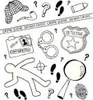 Detective,Magnifying Glass,Doodle,Mystery,Police Force,Sherlock Holmes,Crime,Symbol,Murder,Drawing - Art Product,Crime Scene,Exploration,Chalk Outline,Fingerprint,Sketch,Hat,Footprint,Badge,Handcuffs,Icon Set,Crosshair,Thumbprint,Police Badge,File,Bullet,Manila Folder,Pipe,Cordon Tape,Question Mark,Shoe Print,Confidential,Detective Badge,Illustrations And Vector Art,Solution,Case File,Vector Cartoons,Law Enforcement And Crime,Vector Icons,Industry