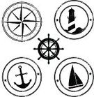 Nautical Vessel,Anchor,Compass,Lighthouse,Sailing,Sailboat,Rubber Stamp,Sailing Ship,Symbol,Compass Rose,Vector,Steering Wheel,Dirty,Ilustration,Distressed,Group of Objects,Set,Damaged,Design Element,Grunge,Isolated On White