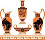 Vase,Greek Culture,Museum,Minerva,Classical Greek,Roman,Art,Alexander the Great,Work Helmet,Antique,Pottery,Ancient,Goddess,Antiquities,Decoration,Paintings,Vector,Classical Style,Jug,Style,The Past,Elegance,Design,Image,Earthenware,Human Face,Greco-roman Style,Hoplite,Stencil,Black Color,European Culture,Mythology,Isolated On White,Isolated,Ornate,Part Of,Illustrations And Vector Art,Classic,feature,Computer Graphic,Arts And Entertainment,Isolated Objects,Pattern,History,Amphora,Cultures,Ilustration