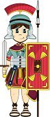 Roman,Shield,Roman Centurion,Ancient Rome,Suit of Armor,Cute,Army Soldier,Cool,History,Work Helmet,Isolated,Scabbard,Vector,Ilustration,Illustrations And Vector Art,Men,Tunic,Characters,Funky,Standing,Sword,Brown Hair,The Past,Sandal,Clip Art,People,Fun,Smiling,Robe,Isolated On White,Spear,Cartoon,Cape,Vector Cartoons