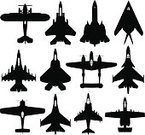 Airplane,Fighter Plane,Silhouette,Military,Military Airplane,General Dynamics F-16 Falcon,Air Vehicle,Armed Forces,Air Force,War,Stealth Bomber,Missile,Army,Bomber Plane,Lockheed SR-71 Blackbird,Bomb,Military Reconnaissance Airplane,Transportation