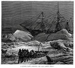 Arctic,Nautical Vessel,Sailing Ship,Iceberg - Ice Formation,Explorer,Sleigh,Winter,Frozen,Engraved Image,Outdoors,Tall Ship,Ilustration,Old-fashioned,History,Exploration,Snow,North Pole,Obsolete,Season,19th Century Style,icebound,Sled,Military,Royal Navy,Scientific Exploration,Armed Forces,Print,Trapped,Victorian Style,Equipment,Woodcut,Concepts And Ideas,Frozen Water,Ice,Cold - Temperature,Antique,Image Created 19th Century,Styles,People,British Military,Historical Ship,Mode of Transport,Stuck,Old,Weather,People,The Past,Navy,Adventure,Travel Locations,Water