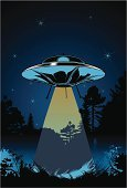 UFO,Alien,Silhouette,Forest,Constellation,Nature,Nature Backgrounds,Star - Space,Grass,Tree,Night