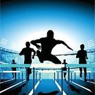 Hurdle,Competition,Running,Sports Race,Athlete,Winning,Hurdling,Track And Field,Jogging,Sport,Track,Silhouette,Success,Jumping,Muscular Build,Track Event,Sprinting,Speed,100 Meter,Track and Field Stadium,Vector,People,Stadium,Ilustration,Sports Track,Exercising,Spectator,Fan,Vanishing Point,Men,First Place,Outline,Support,Award Ribbon,Group Of People,Black Color,Competition,People,Men's Track,Audience,Action,Illustrations And Vector Art,Sports And Fitness
