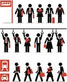 Symbol,Stick Figure,Bus,People,Walking,Female,Bus Stop,Men,Women,Business,Public Transportation,Male,Occupation,Train,Vector,Businessman,Black And White,Taxi,Railroad Station,Suitcase,Black Color,Meeting,Standing,File,Employment Issues,Illustrations And Vector Art,Business,Professional Occupation,People