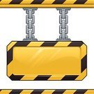 Construction Industry,Sign,Men At Work Sign,Construction Site,Metal,Safety,Vector,Yellow,Heavy,Black Color,Link,Warning Sign,Chain,Empty,Isolated,Shiny,Ilustration,Copy Space,Blank