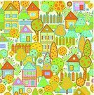 House,Village,Seamless,Pattern,Town,Autumn,City,Design,Flower,Residential District,Tree,Front or Back Yard,Fence,Cute,Building Exterior,Apartment,Cityscape,Architecture And Buildings,Vector Backgrounds,Illustrations And Vector Art,Architecture Backgrounds,Bush,Posing,Architecture,Summer