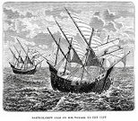 Portuguese Culture,Tall Ship,Nautical Vessel,Caravel,Sailing Ship,Bartolomeu Dias Statue,Sailing,Old,History,Cultures,diaz,Obsolete,Time,Image Created 16th Century,Europe,Engraved Image,Old-fashioned,Adventure,Discovery,Journey,Vessel Part,Sea,Travel Locations,16th Century Style,Ilustration,European Culture,The Past,Exploration,Styles,Mode of Transport,Transportation,Sail,Antique,Concepts And Ideas,Historical Ship