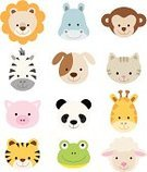 Animal,Domestic Cat,Undomesticated Cat,Cute,Tropical Rainforest,Monkey,Human Face,Cartoon,Dog,Sheep,Panda,Lion - Feline,Computer Icon,Tiger,Lamb,Baby Shower,Vector,Pig,Giraffe,Frog,Set,Zebra,Ilustration,Hippopotamus,Characters,Animals In The Wild,Collection,Wildlife,Animals And Pets,Vector Cartoons,Vector Icons,Illustrations And Vector Art