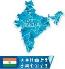 India,Map,Cartography,Travel,Outline,Asia,Intricacy,Land,Accuracy,Physical Geography,Topography