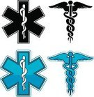 Caduceus,Healthcare And Medicine,Symbol,Computer Icon,Silhouette,Vector,Ilustration,Color Image,Set,Star Of Life,Medical,Vector Icons,Medicine And Science,Isolated On White,Blue,Isolated,Illustrations And Vector Art