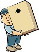 Moving House,Mover,Box - Container,Relocation,Men,Carrying,Shipping,Cartoon,Delivering,Large,Transportation,Manual Worker,Heavy,Equipment,Merchandise,Vector Cartoons,Transportation,layman,Cardboard,Illustrations And Vector Art