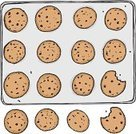 Cookie,Chocolate Chip Cookie,Baking Sheet,Missing Bite,Crumb,Baked,Sheet,Chocolate Chip,Tray,Vector,Dessert,Drawing - Art Product,Snack,Metal,Chewed,Ilustration,Set,Illustrations And Vector Art,Isolated On White,Number 12,Raisin Cookie,Sweet Food,Brown,Isolated,Isolated Objects,Food,Food And Drink,Baking,Vector Cartoons