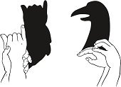 Human Hand,Shadow,Animal,Gesturing,Human Head,Bird,Animal Head,Symbol,Design,Animals And Pets,Birds,Sign,Illustrations And Vector Art,Pattern,Vector,Showing,People