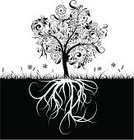 Root,Tree,Flower,Single Flower,Abstract,Grass,Ornate,Drawing - Art Product,Retro Revival,Plant,Design Element,Branch,Art,Vector,Design,Nature,Leaf,Backgrounds,Scroll Shape,Illustrations And Vector Art,Vector Florals,Springtime,Summer,Ilustration,Decor,Image,Decoration,Vector Backgrounds,Painted Image