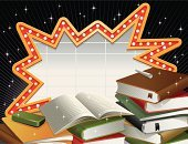 High School,Education,Backgrounds,Elementary School,Book,Back to School,Star Shape,Board Eraser,Billboard,Sign,Electronic Billboard,Ilustration,Opened Book,School Equipments,No People,Chalk - Art Equipment,Vector,Shiny,isolated object,Commercial Sign,Light Bulb,Eraser,Copy Space