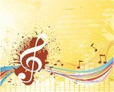 Music,Backgrounds,Musical Note,Abstract,Treble Clef,Painted Image,Vector,Pattern,Multi Colored,Grunge,Sound,Ilustration,Decoration,Striped,Part Of,Horizontal,Wallpaper Pattern,Design Element,Brown,White,Vibrant Color,Curled Up,Curve,Circle,Shape